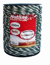 HOTLINE 6MM X 500M  SUPERCHARGE ROPE GREEN/WHITE P51G-5