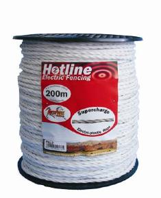 HOTLINE 6MM X 200M SUPERCHARGE ROPE WHITE P51-2