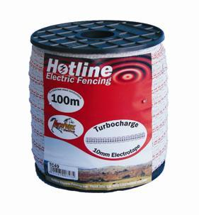 HOTLINE 20MM X 200M TURBOCHARGE TAPE WHITE TC43-2